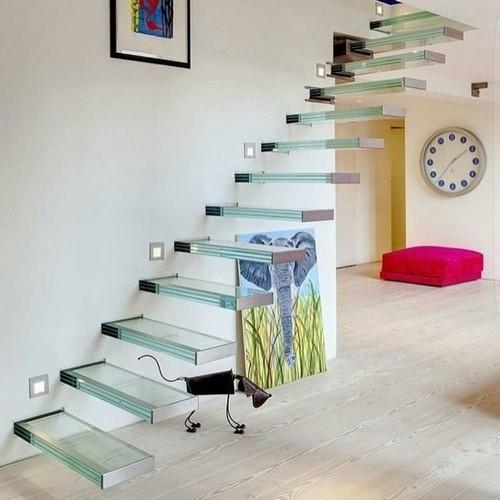 escada de vidro