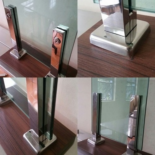 torre para guarda corpo de vidro